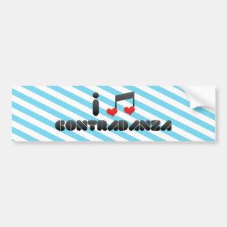 I Love Contradanza Car Bumper Sticker