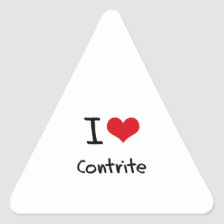I love Contrite Triangle Sticker