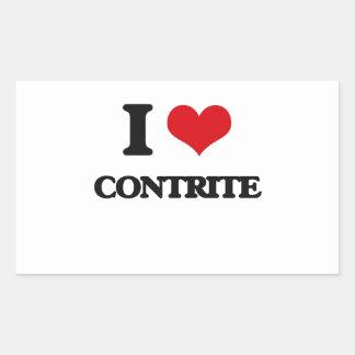 I love Contrite Rectangle Sticker