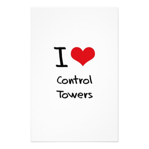 I love Control Towers Customized Stationery