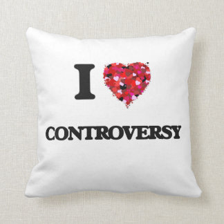 I love Controversy Throw Pillows