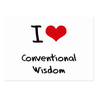 I love Conventional Wisdom Business Card