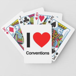 i love conventions bicycle poker deck
