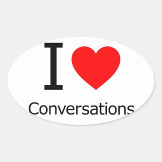 I Love Conversations Stickers