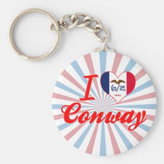 I Love Conway, Iowa Key Chains