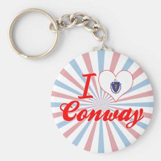 I Love Conway, Massachusetts Key Chains