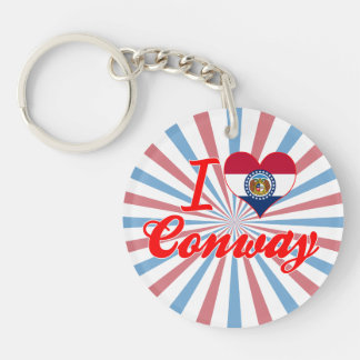 I Love Conway, Missouri Acrylic Key Chain