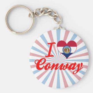 I Love Conway, Missouri Keychain