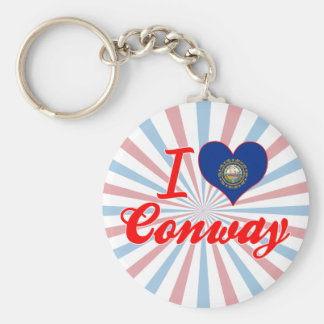 I Love Conway, New Hampshire Key Chains