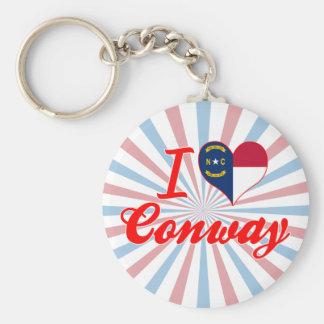 I Love Conway, North Carolina Key Chains