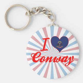 I Love Conway, North Dakota Keychains