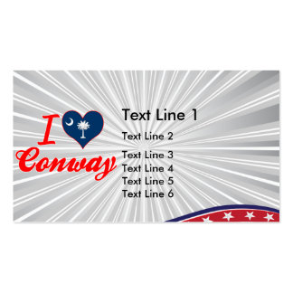 I Love Conway, South Carolina Double-Sided Standard Business Cards (Pack Of 100)