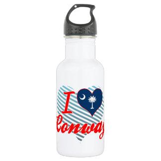 I Love Conway, South Carolina 18oz Water Bottle