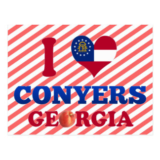 I Love Conyers, Georgia Postcard
