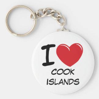 I Love Cook Islands Basic Round Button Keychain