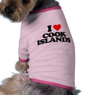 I LOVE COOK ISLANDS DOG T-SHIRT