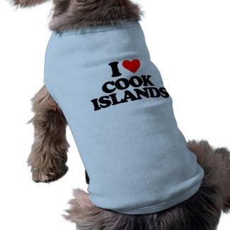 I LOVE COOK ISLANDS DOGGIE T-SHIRT