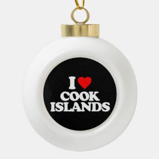 I LOVE COOK ISLANDS ORNAMENT