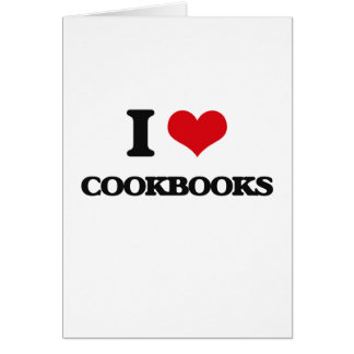 I love Cookbooks Greeting Card