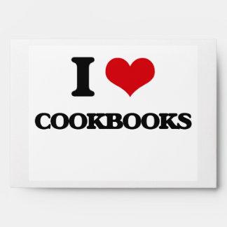 I love Cookbooks Envelopes