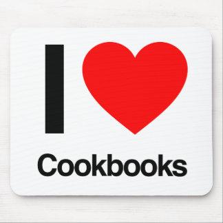 i love cookbooks mouse pads