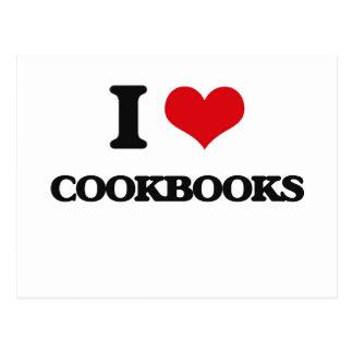 I love Cookbooks Postcard