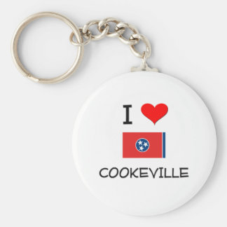 I Love Cookeville Tennessee Keychain