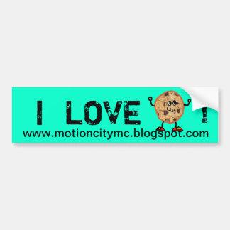 I love cookie  bumper sticker car bumper sticker