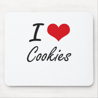 I Love Cookies artistic design Mouse Pad