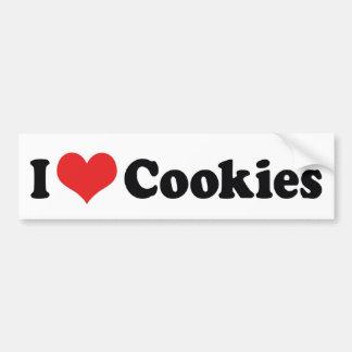 I Love Cookies Bumper Sticker Car Bumper Sticker