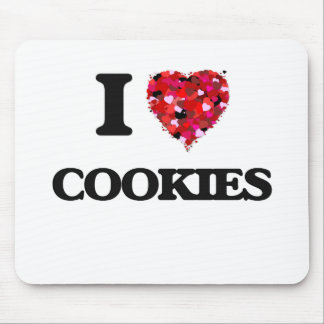 I Love Cookies food design Mouse Pad