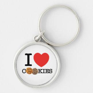 I Love Cookies Keychain