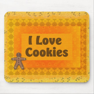 I Love Cookies Mouse Pad