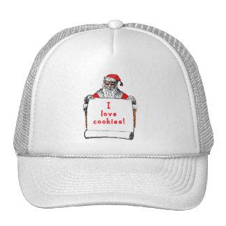 I Love Cookies Santa Claus Trucker Hat