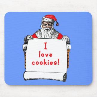 I Love Cookies Santa Claus Mouse Pad
