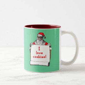 I Love Cookies Santa Claus Coffee Mug