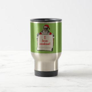 I Love Cookies Santa Claus Travel Mug
