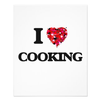 """I love Cooking 4.5"""" X 5.6"""" Flyer"""
