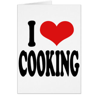 I Love Cooking Card