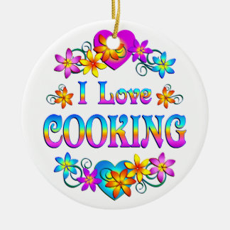 I Love Cooking Ceramic Ornament
