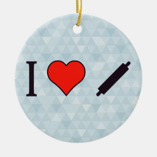 I Love Cooking Ceramic Ornament
