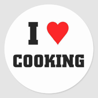 I love Cooking Classic Round Sticker