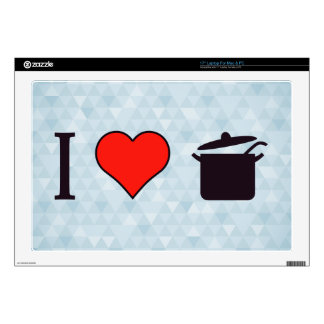 """I Love Cooking Decal For 17"""" Laptop"""