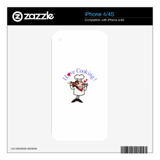 I Love Cooking Decals For iPhone 4S