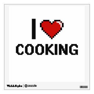 I Love Cooking Digital Retro Design Room Stickers