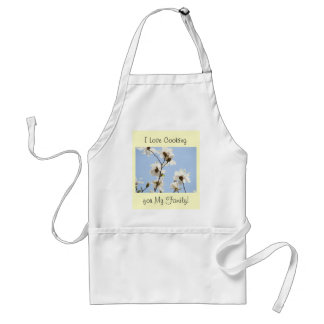 I Love Cooking for my Family! Spring Magnolias Adult Apron