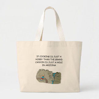 i love cooking large tote bag
