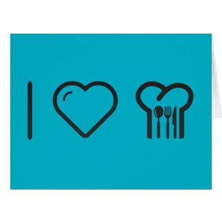 I Love Cooking Lessons Large Greeting Card