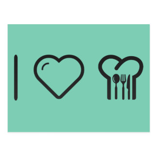 I Love Cooking Lessons Postcard