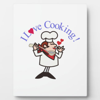 I Love Cooking Display Plaques